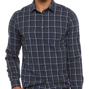 NWT Apt 9 Modern Fit Plaid Soft Flannel Shirt